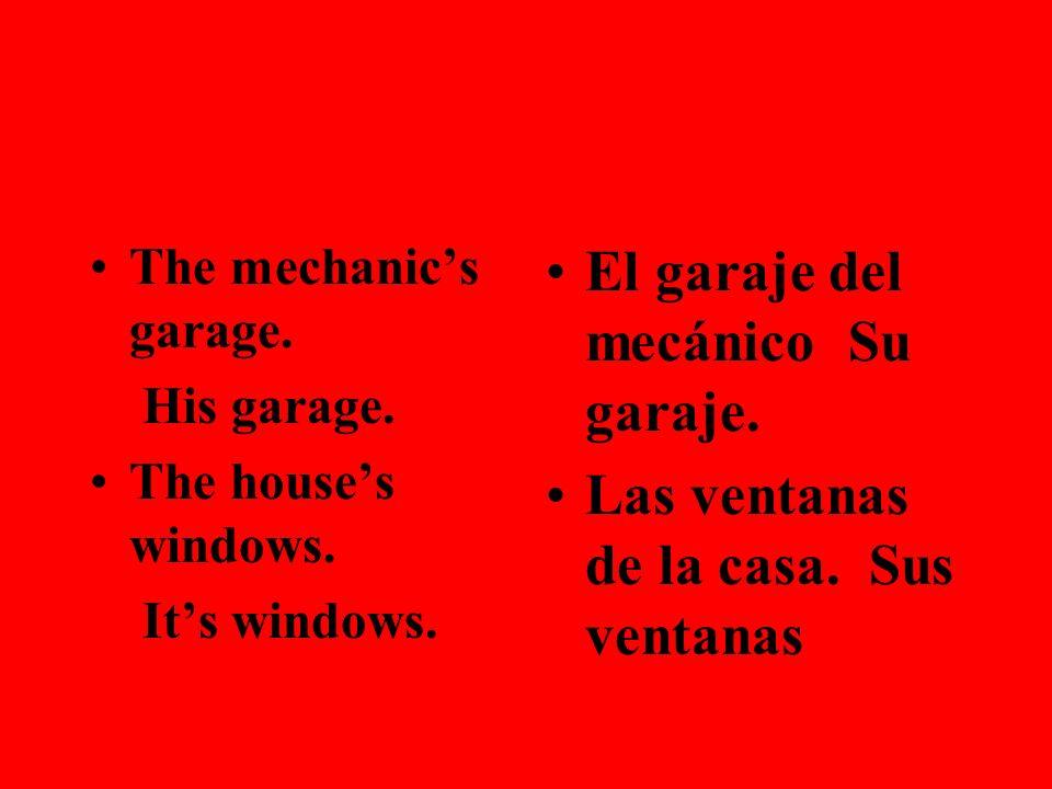 El garaje del mecánico Su garaje.