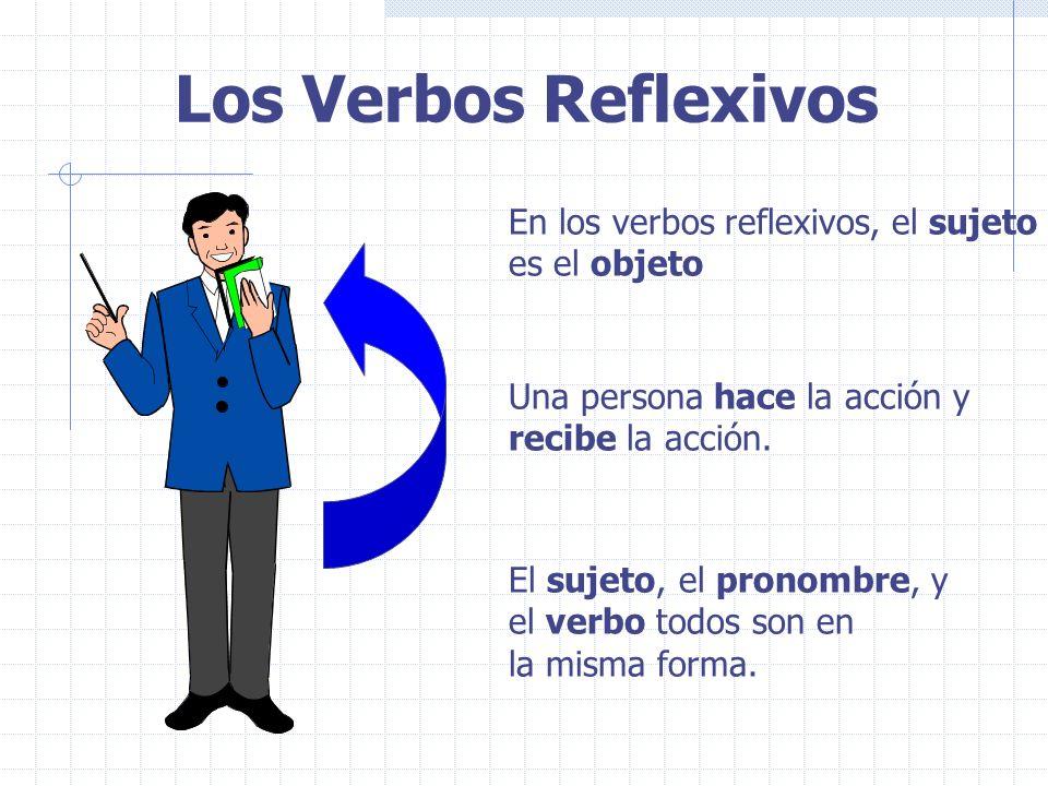 Los Verbos Reflexivos En los verbos reflexivos, el sujeto es el objeto
