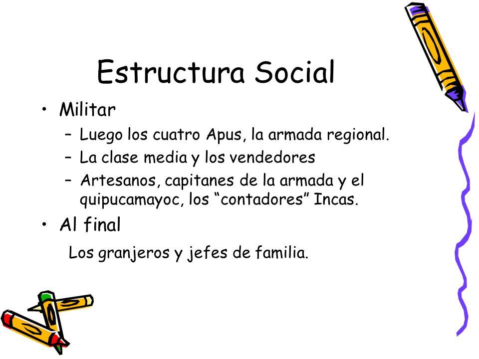 Estructura Social Militar Al final Los granjeros y jefes de familia.