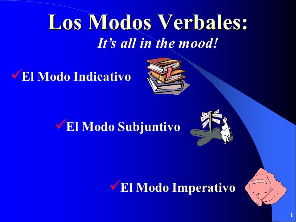 Los Modos Verbales: It's all in the mood! El Modo Indicativo
