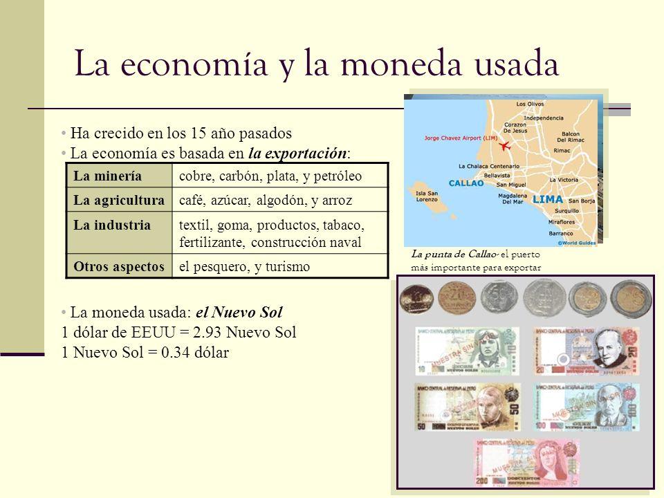 La economía y la moneda usada