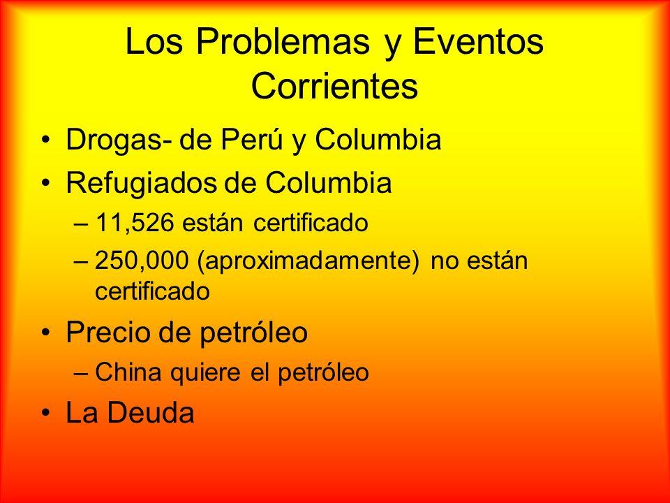 Los Problemas y Eventos Corrientes