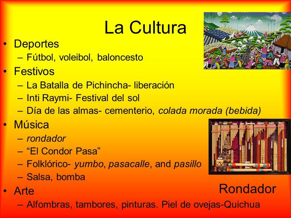 La Cultura Rondador Deportes Festivos Música Arte