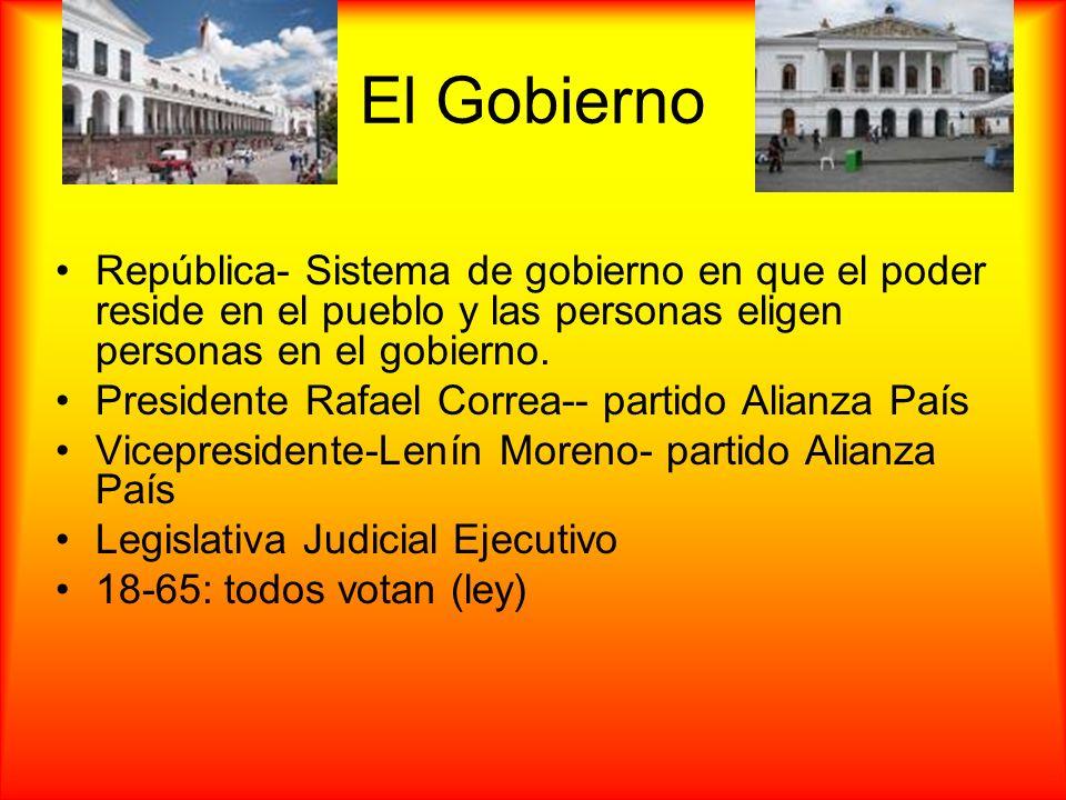 El Gobierno República- Sistema de gobierno en que el poder reside en el pueblo y las personas eligen personas en el gobierno.