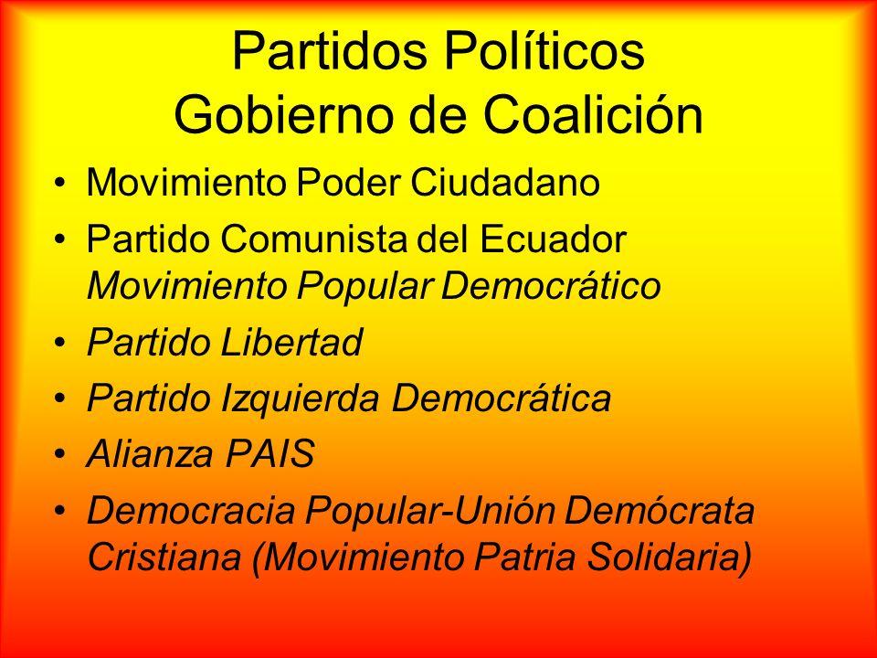 Partidos Políticos Gobierno de Coalición