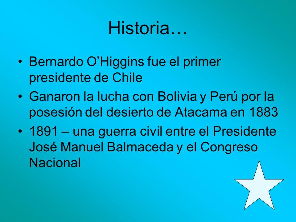 Historia… Bernardo O'Higgins fue el primer presidente de Chile