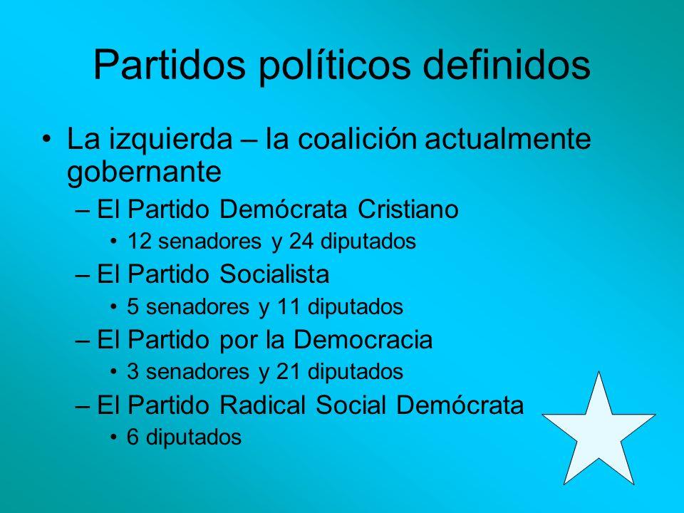Partidos políticos definidos