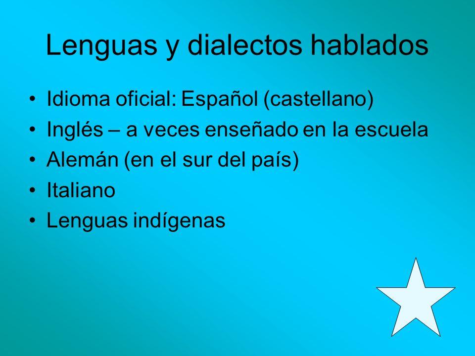 Lenguas y dialectos hablados