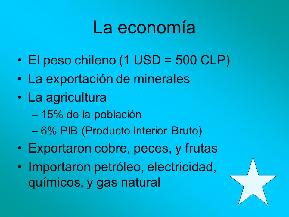 La economía El peso chileno (1 USD = 500 CLP)