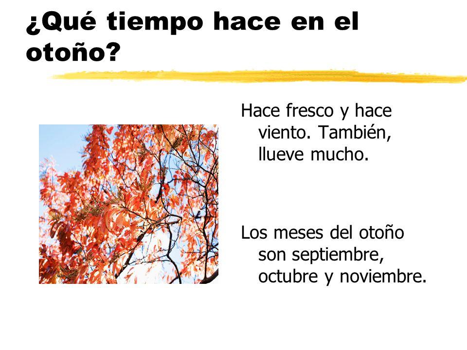 ¿Qué tiempo hace en el otoño
