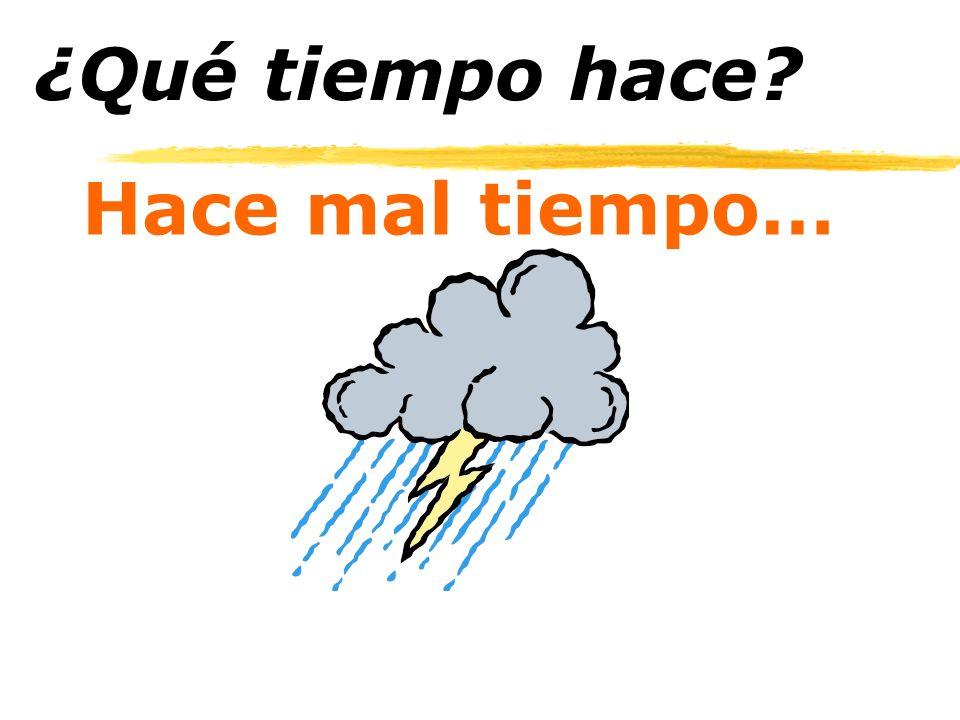 ¿Qué tiempo hace Hace mal tiempo…