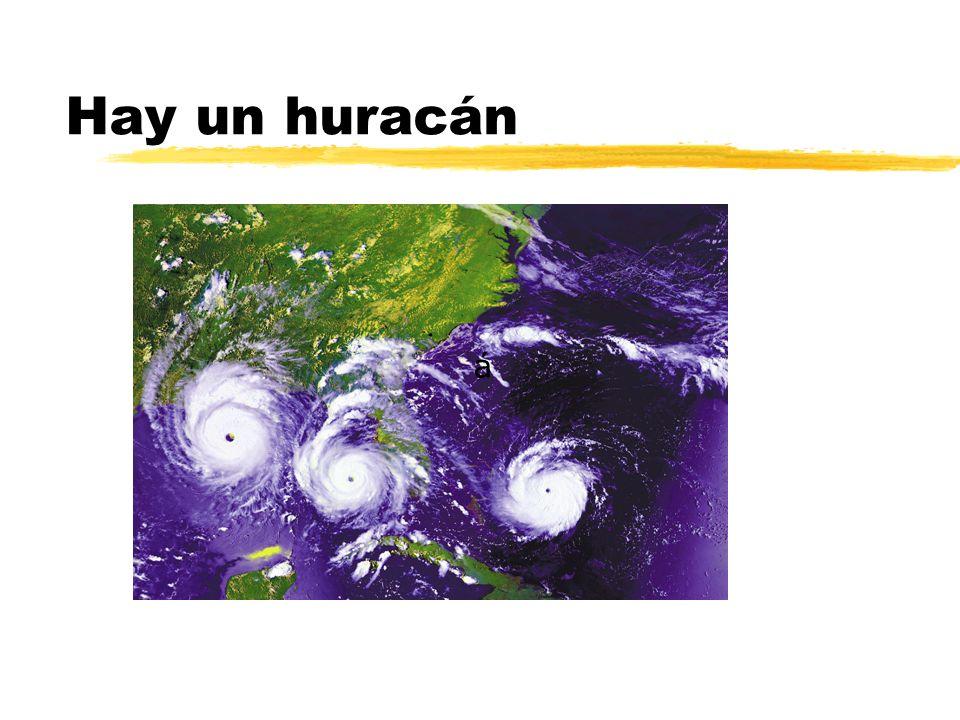 Hay un huracán á