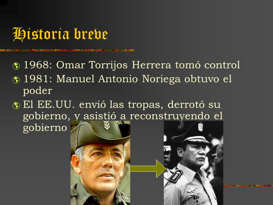 Historia breve 1968: Omar Torrijos Herrera tomó control