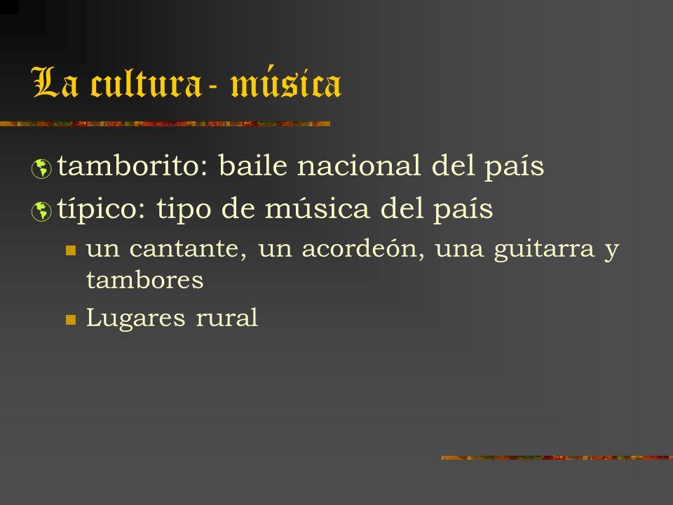 La cultura- música tamborito: baile nacional del país