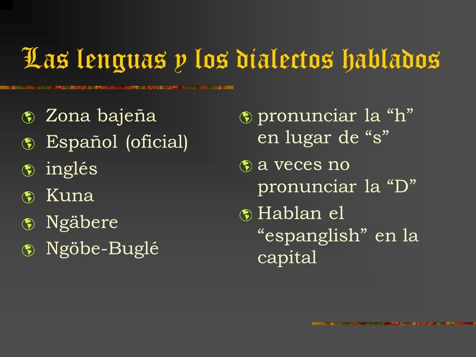 Las lenguas y los dialectos hablados