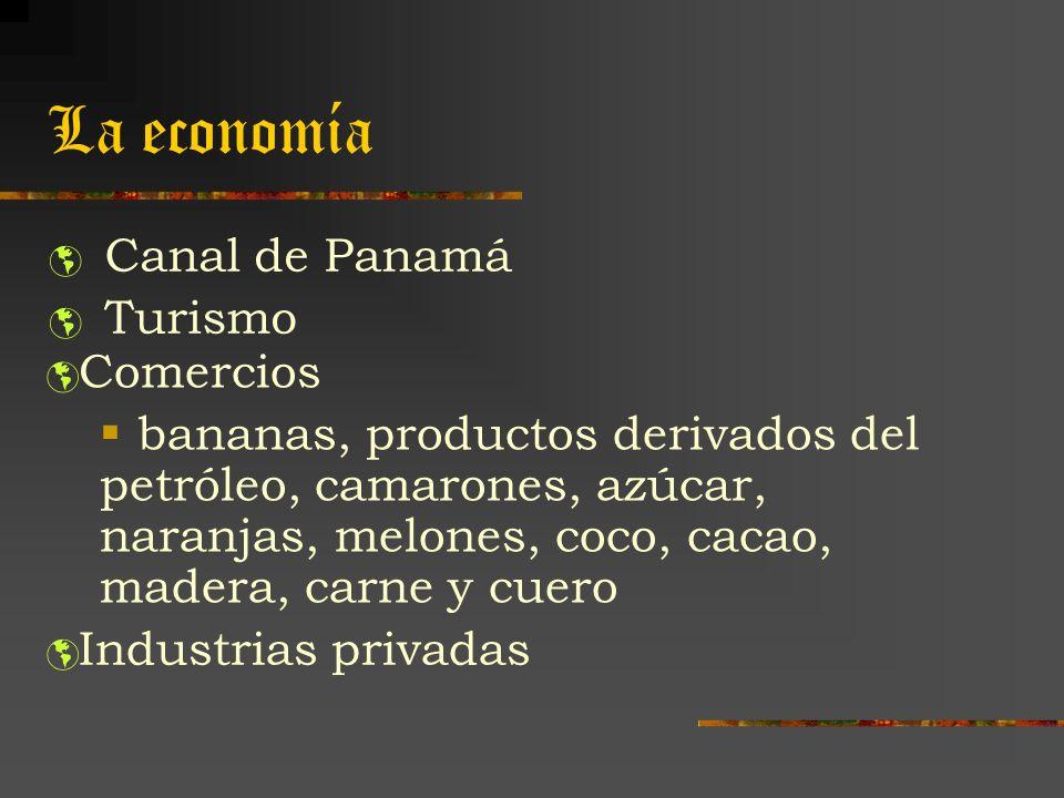 La economía Canal de Panamá Turismo Comercios