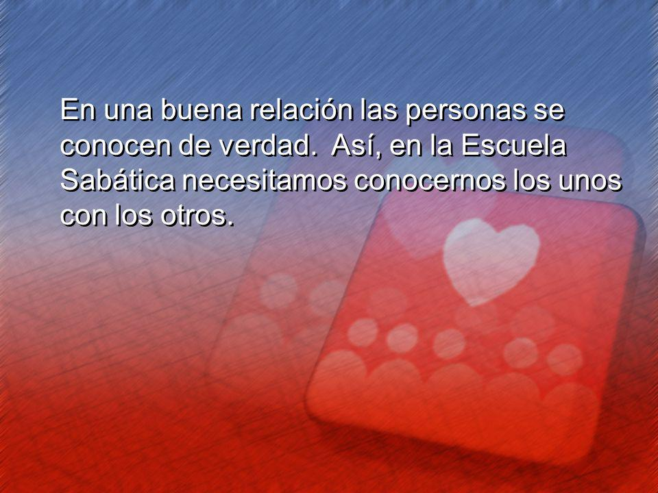 En una buena relación las personas se