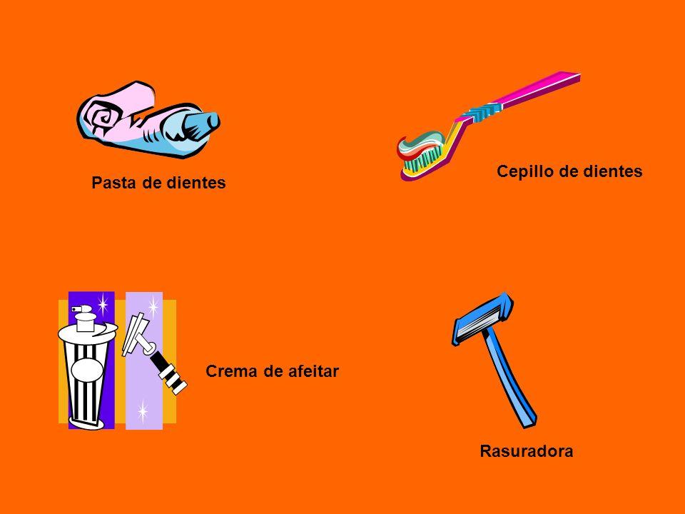 Cepillo de dientes Pasta de dientes Crema de afeitar Rasuradora