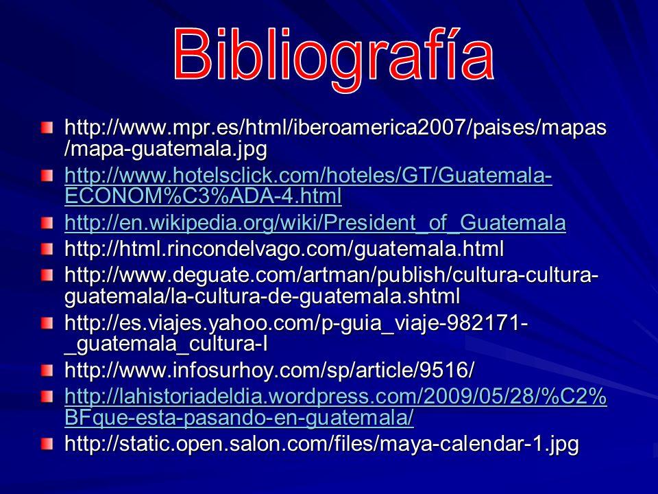 Bibliografíahttp://www.mpr.es/html/iberoamerica2007/paises/mapas/mapa-guatemala.jpg.