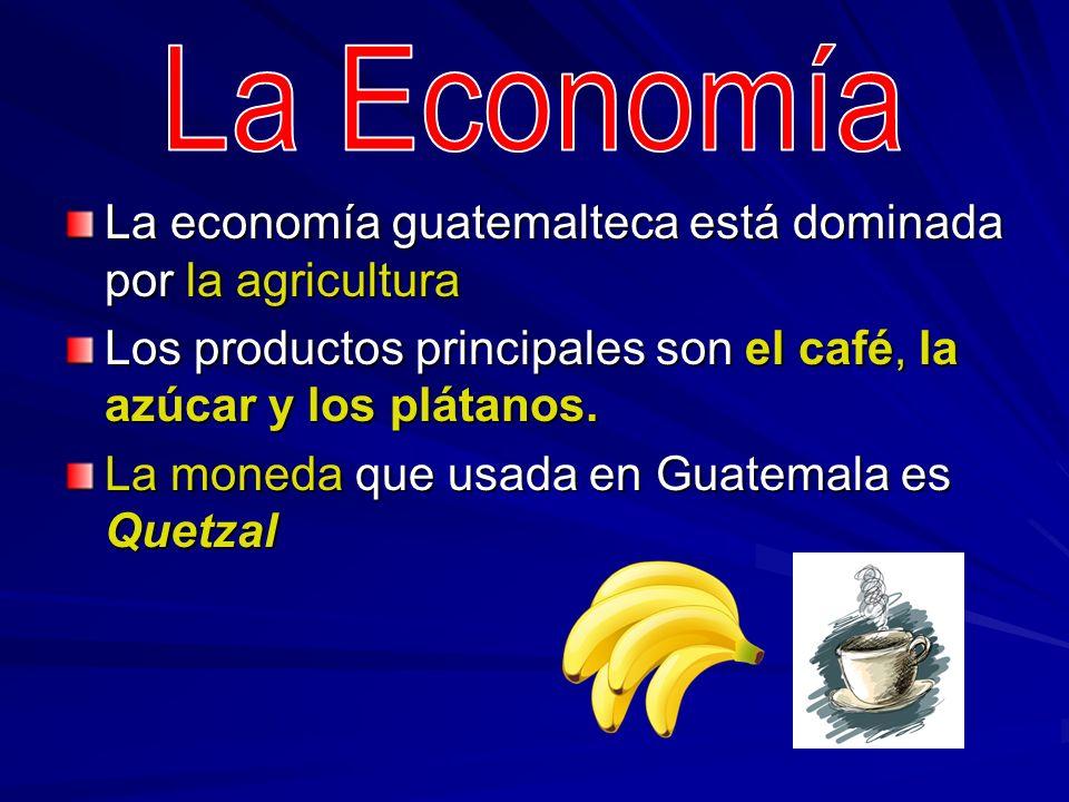 La Economía La economía guatemalteca está dominada por la agricultura