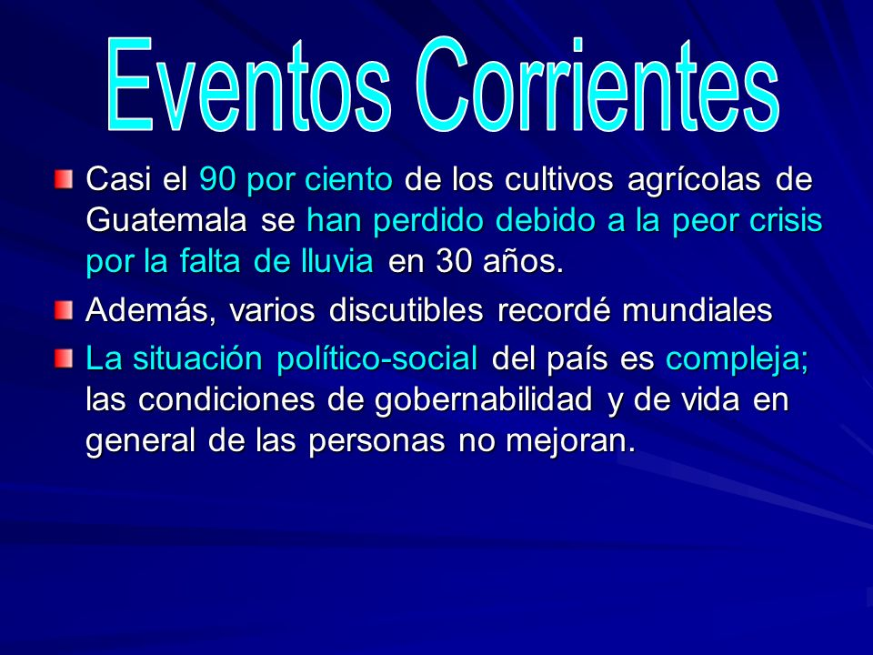 Eventos Corrientes