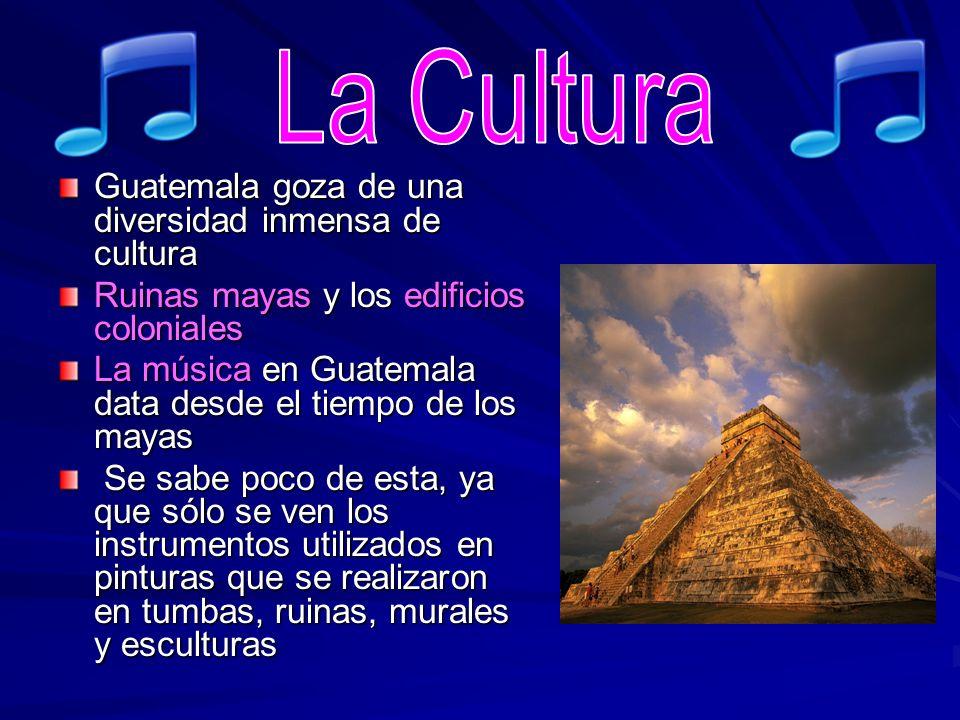La Cultura Guatemala goza de una diversidad inmensa de cultura