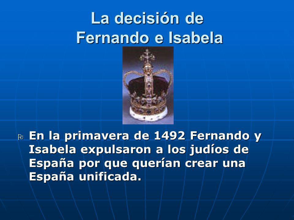 La decisión de Fernando e Isabela