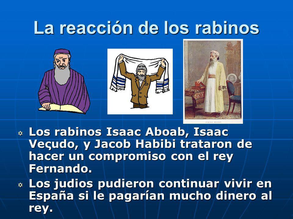 La reacción de los rabinos