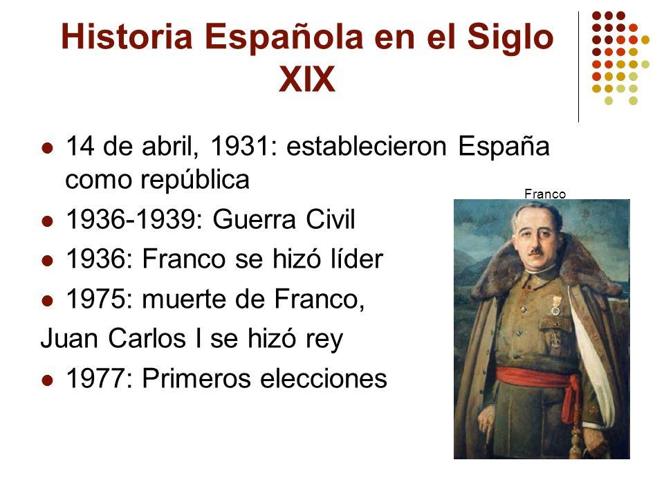 Historia Española en el Siglo XIX