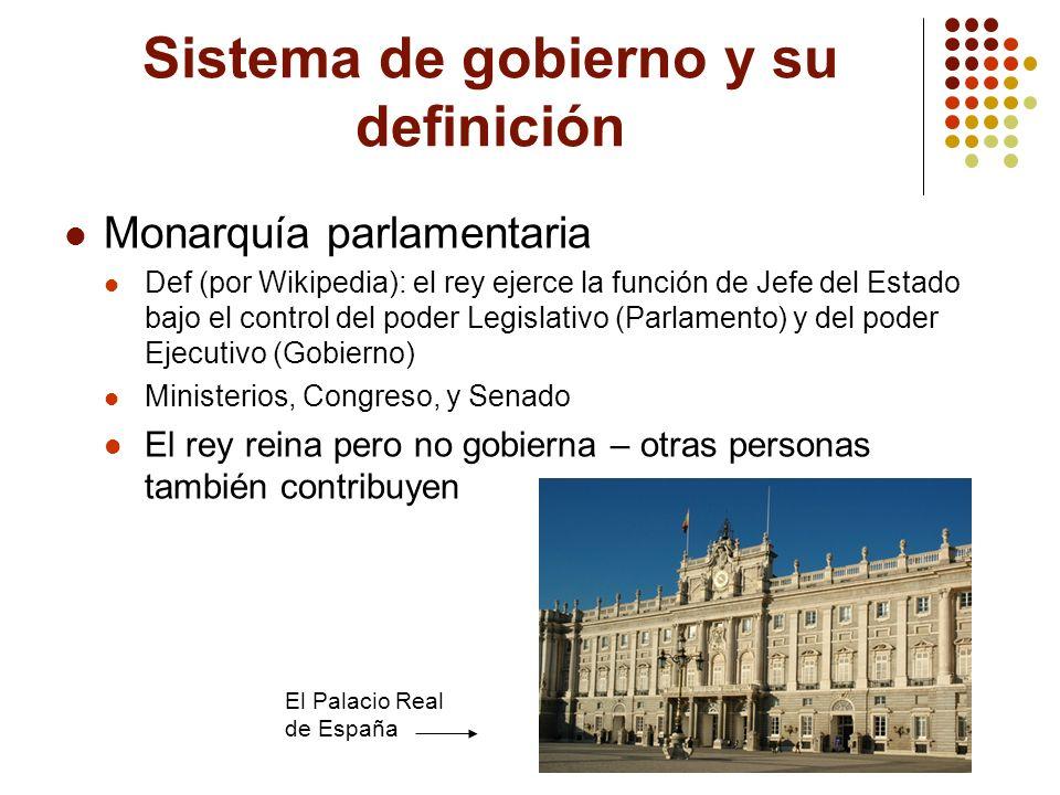 Sistema de gobierno y su definición