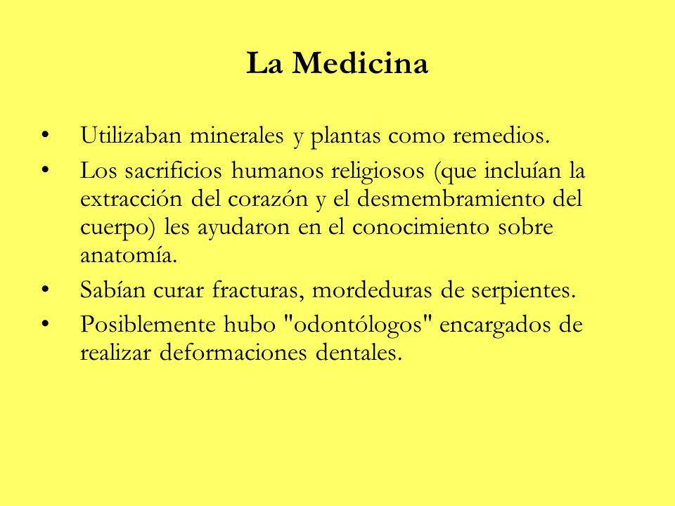 La Medicina Utilizaban minerales y plantas como remedios.