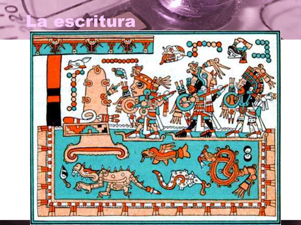 La escritura ¿Qué ves en este dibujo de los aztecas