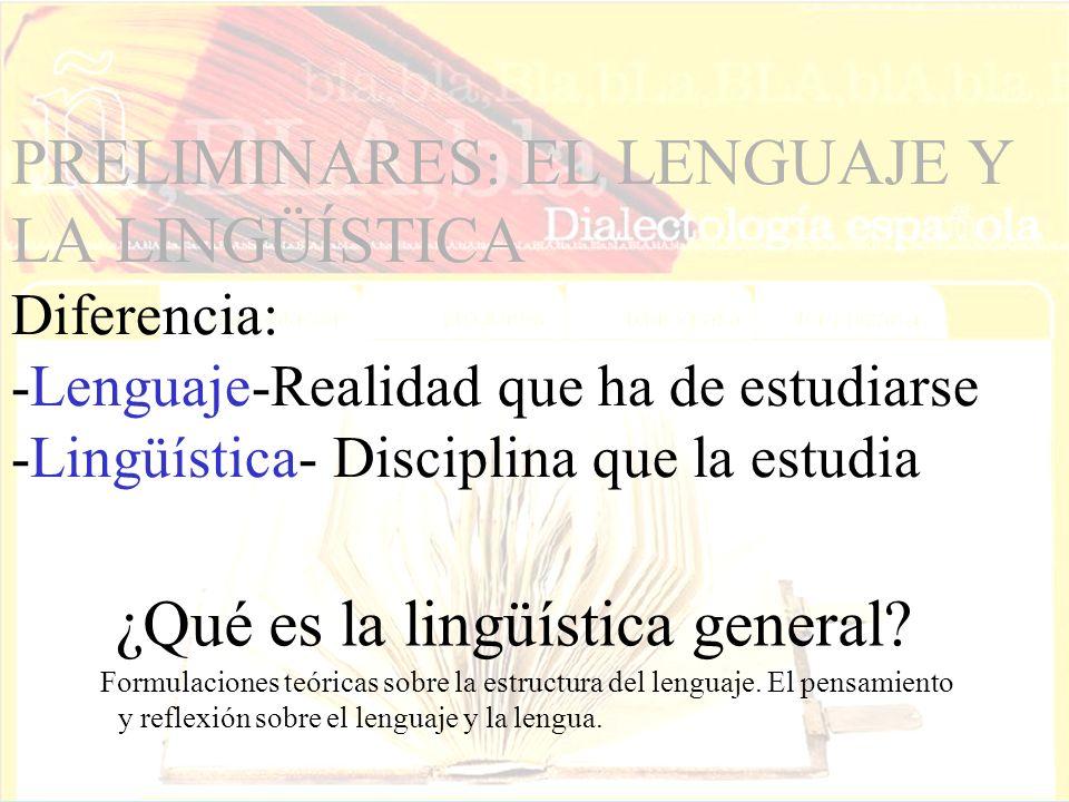 ¿Qué es la lingüística general