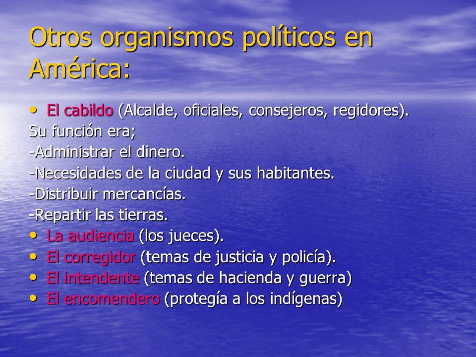 Otros organismos políticos en América: