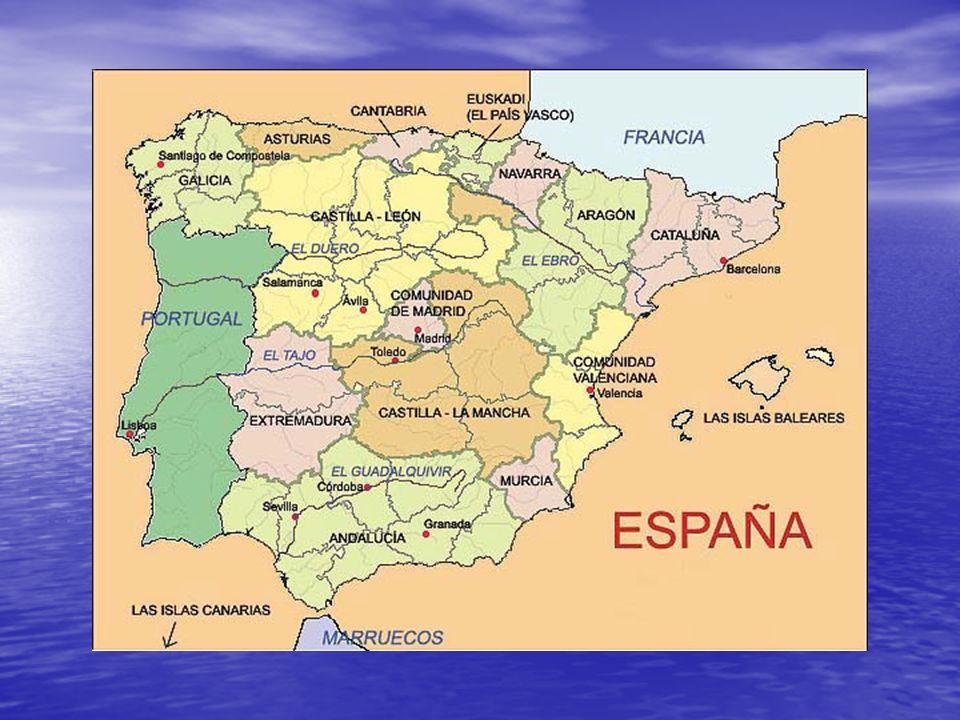 En este mapa de España están indicadas las 17 autonomías.