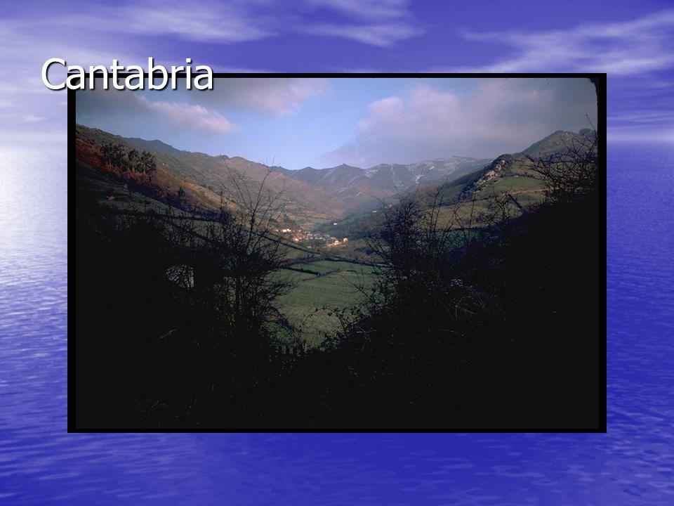 Cantabria En Cantabria vemos un pueblo entre las montañas del Norte.