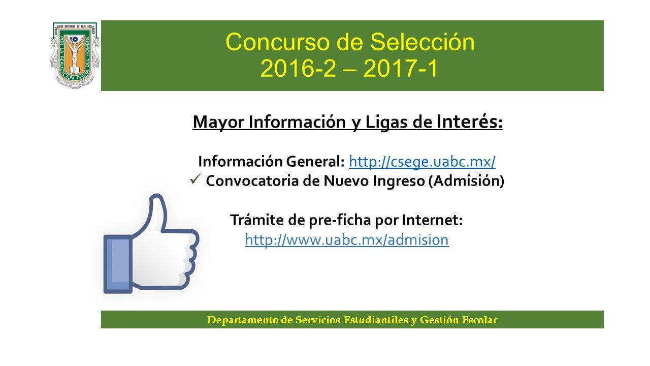 Concurso de selecci n de nuevo ingreso ppt descargar for Concurso de docencia 2016