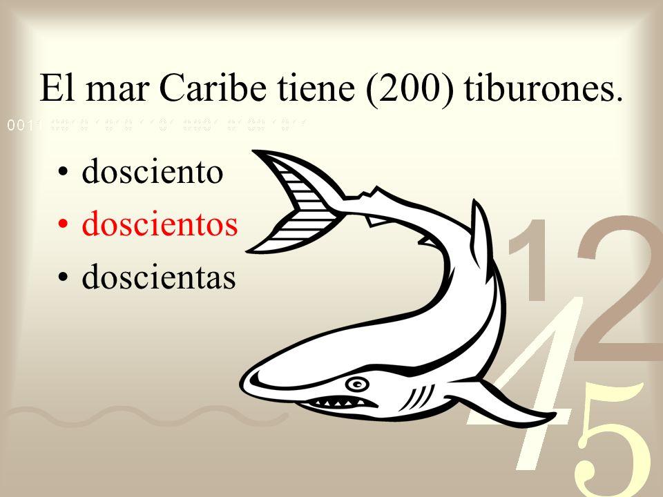 El mar Caribe tiene (200) tiburones.