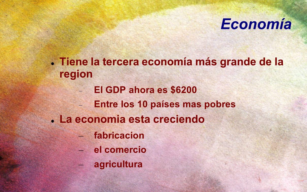 Economía Tiene la tercera economía más grande de la region
