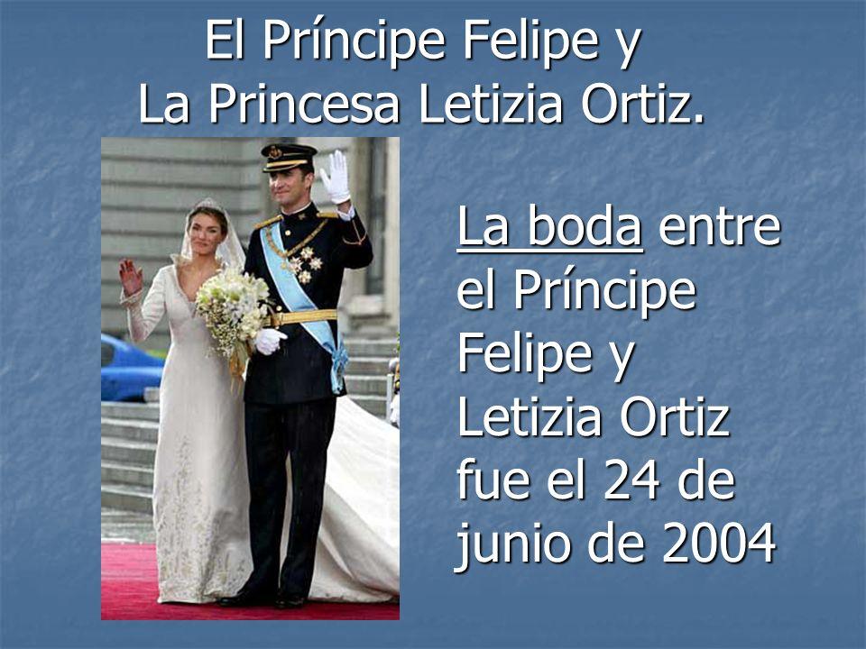 El Príncipe Felipe y La Princesa Letizia Ortiz.