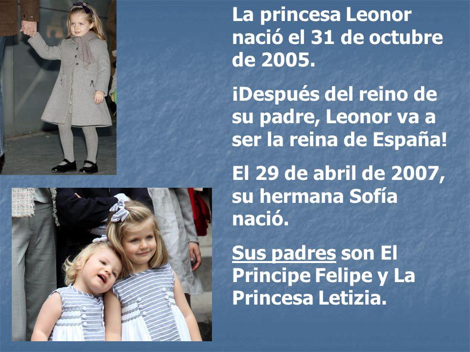 La princesa Leonor nació el 31 de octubre de 2005.