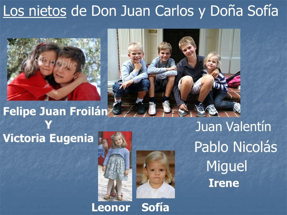 Los nietos de Don Juan Carlos y Doña Sofía
