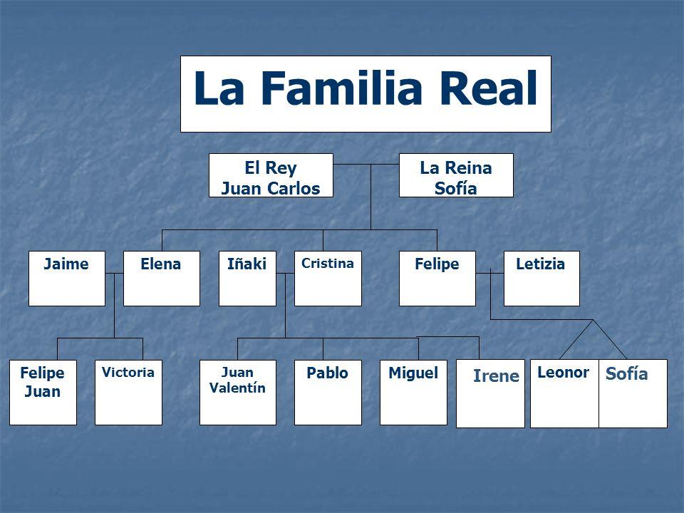 La Familia Real El Rey Juan Carlos La Reina Sofía Irene Sofía Jaime