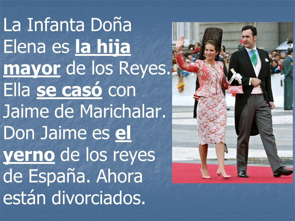 La Infanta Doña Elena es la hija mayor de los Reyes