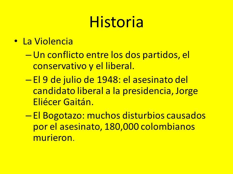 Historia La Violencia. Un conflicto entre los dos partidos, el conservativo y el liberal.