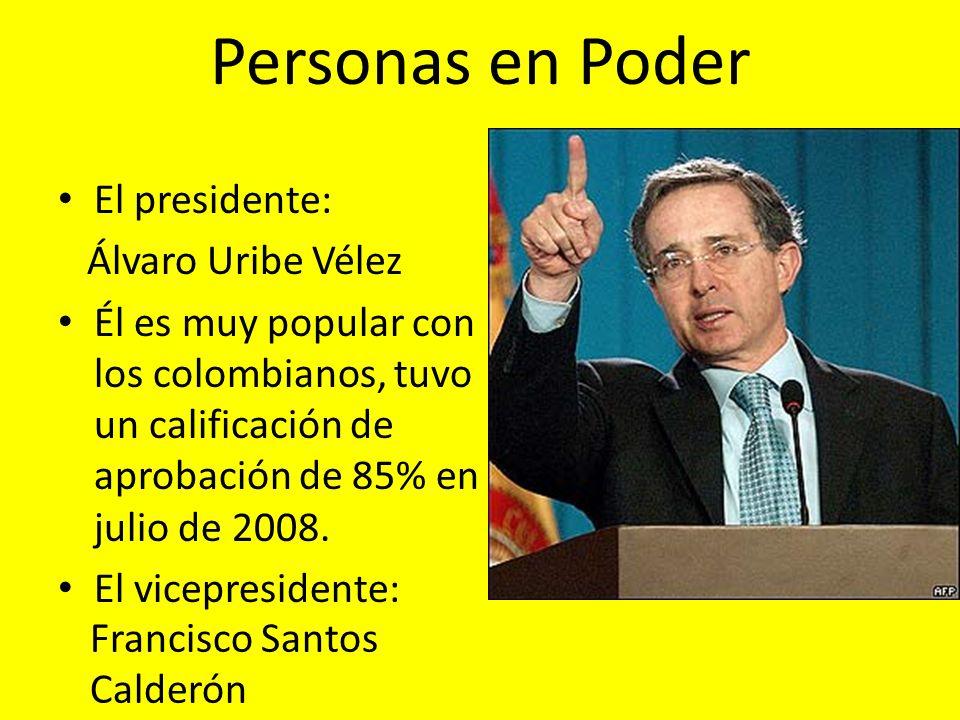 Personas en Poder El presidente: Álvaro Uribe Vélez