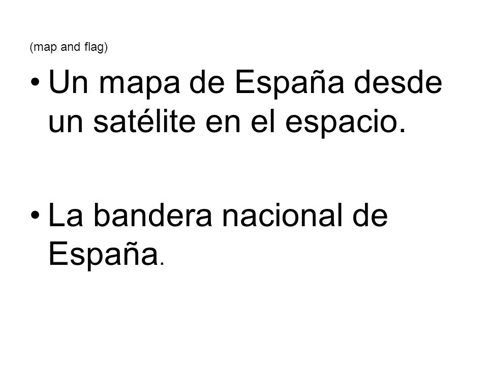 Un mapa de España desde un satélite en el espacio.