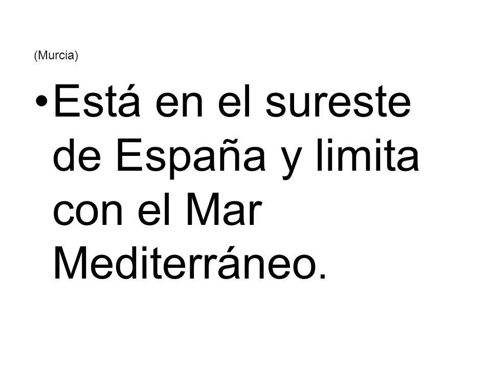 Está en el sureste de España y limita con el Mar Mediterráneo.