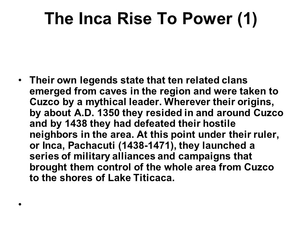 The Inca Rise To Power (1)