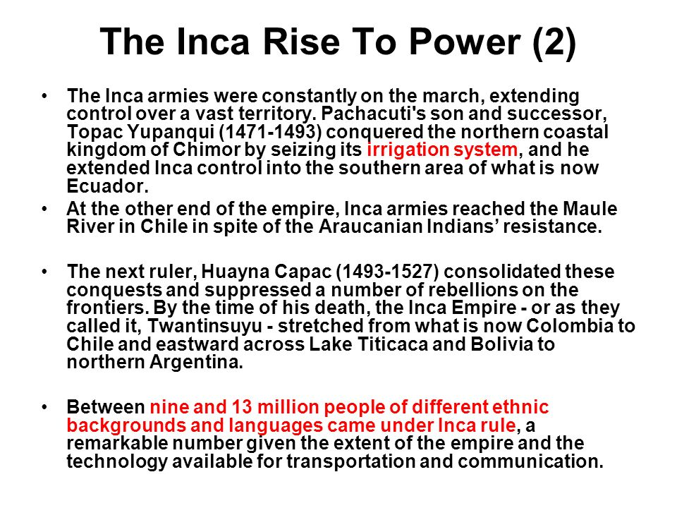 The Inca Rise To Power (2)